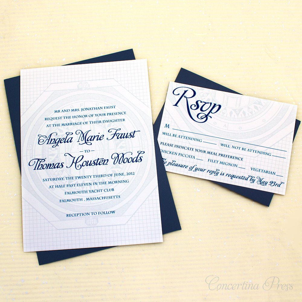 vintage nautical wedding invitations