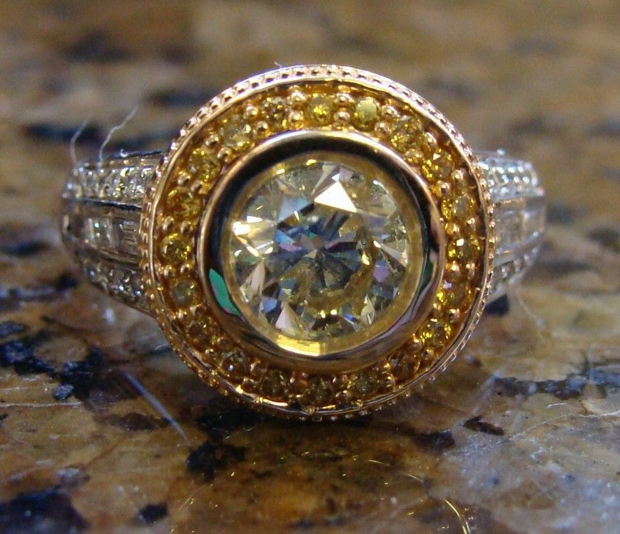 : yellow canary diamond engagement rings
