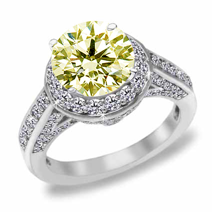 : yellow diamond engagement rings